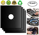 XZSUN Gas Stove Burner Covers 10 Pack 0.2mm Double Thickness Reusable Gas Range Protectors for Kitchen&Cooking (10.6'x10.6'