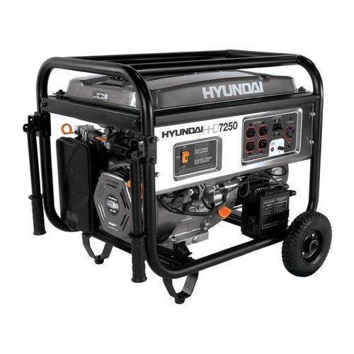 Hyundai HHD7250, 6500 Running Watts/7250 Starting Watts, Gas Powered Portable Generator