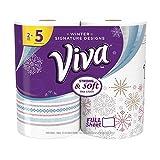 VIVA Signature Designs Full Sheet Paper Towels, Print, 2 Huge Rolls