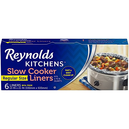 Reynolds Kitchens Premium Slow Cooker Liners – 13 x 21 Inch, 6 Count