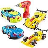 USA Toyz voiture de course à emporter jouets - 52pk Construire une voiture STEM Building Toys Set, Kits de construction de voiture à emporter pour enfants w / voiture Drill Tool pour garçons ou filles