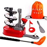 DeVan Golf Toys Set, Golf Ball Gaming, Outdoors Golf Training, Active, Early Educational Exercise Toy with a Drawstring Backpack for Kids and Toddler. (Random Color)