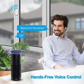 WiFi-Security-System-WiFi-Alarm-System-Kit-Compatible-with-AlexaAPP-Control-and-Message-Alert-Function1-PIR-Motion-Sensor1-Remote-Control4-Door-Open-Alarm-and-1-Wi-Fi-Gateway-No-Monthly-Fee