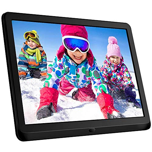 10-Inch-Digital-Picture-Frame-169-1920x1080-IPS-Widescreen-Digital-Photo-Frame-Supports-Adjustable-Slideshow-Brightness-1080P-FHD-Video-Music-Alarm-128G-SD-Black