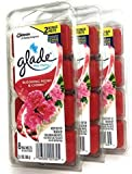 3 pack of Glade Wax Melts Air Freshener Refill, Blooming Peony & Cherry, 8ct, 3.1oz