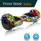 UNI-SUN Hoverboard Self Balancing Scooter 6.5' Two-Wheel Self Balancing Hoverboard with Bluetooth Speaker and LED Lights Electric Scooter for Adult Kids Gift UL 2272 Certified