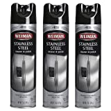 Weiman Stainless Steel Cleaner & Polish Aerosol, 12 Oz (Pack of 3)