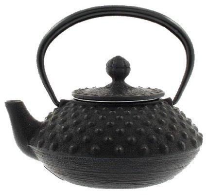 Iwachu Japanese Iron Tetsubin Teapot, Small, Black Hailstone Pattern