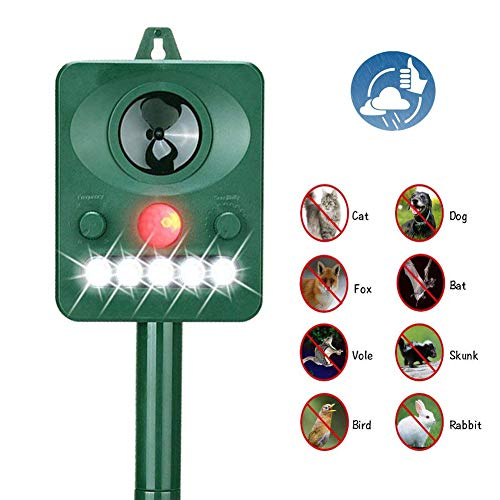 Acidea Outdoor Solar Ultrasonic Animal Repeller