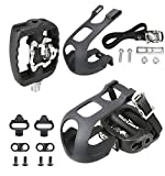 Venzo Fitness Exercise Spin Bike SPD Compatible Pedals with Toe Clips & Cleats
