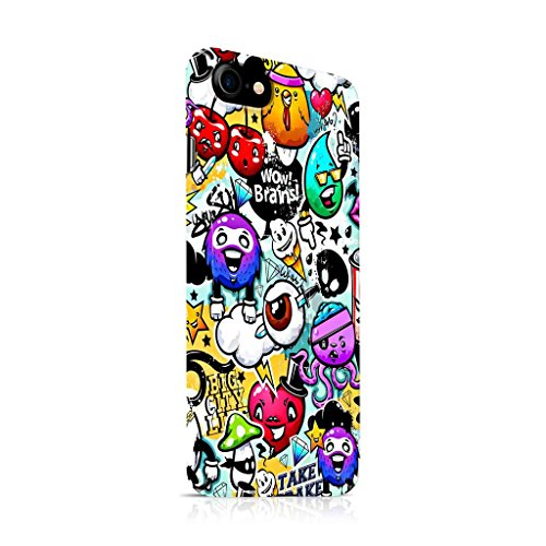 Cover Affair Funky/Cool/Funny Cartoon Printed Designer Slim Light Weight Back Cover Case Compatible with Apple iPhone 7-2016 / Apple iPhone 8-2017 (Covering All Sides)