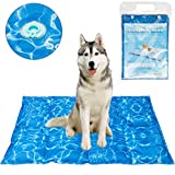 SCENEREAL Dog Cooling Mat Cool Dog Bed - Ice Water Pad for Dogs Cats Pets Summer Hot Days Sleeping Self Cooling Bed, Large