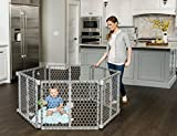 Regalo 192-Inch Plastic Super Wide Adjustable Baby Gate and Play Yard, 4-In-1, Bonus Kit, Includes 4 Pack of Wall Mounts, Indoor and Outdoor Play Pen