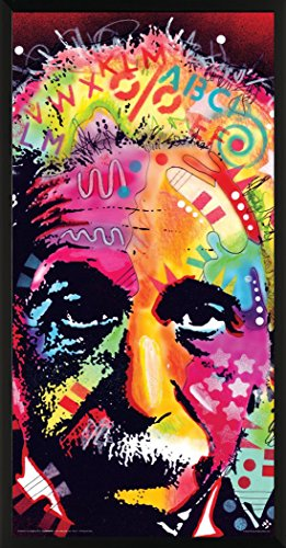 Culturenik Dean Russo Albert Einstein Genius Modern Art Decorative Print (Framed 12x24 Poster)