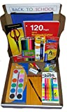 Back to School Premium Kit Box for Middle to High School Including 10 Piece Math Set, Notebook, Pens, Pencils and Complete Set of School Supply Essentials
