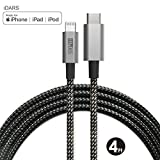 iDARS USB-C to Lightning Cable MFi Certified Nylon Braided Fast Charging Cord Compatible for iPhone Xs/XS Max/XR/X/8/8 Plus, iPad Pro, Supports Power Delivery and Type-C PD Chargers(4 ft, SpaceGray)