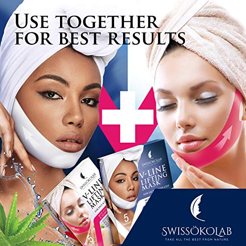 Double Chin Reducer V Line Lifting Mask Face Slimming Strap Chin Neck V Shaped Lift Tape Chin Up Patch V Up Contour Tightening Firming 5 pcs 5