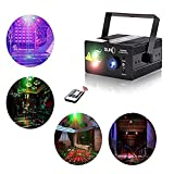 Laser Lights Led Projector,40 Patterns RG Laser DJ Stage Lighting,3 Sources Apertures Lens Red and Green Show With Blue Auto Sound Activated, Best For Disco/Wedding/Birthday/Family Party/Clubs etc
