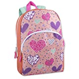 Trail maker Character Backpack (15') with Fun Fashionable Design for Boys & Girls (Hearts)