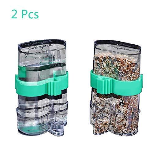 Wpmlady 2 Pcs Bird Water Feeder, Automatic Bird Waterer Food Feeder, Bird Dispenser for Cage, Bird Water Bowl
