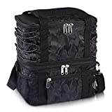 Bertasche Insulated Lunch Box Lunch Bag for Adults Men Women, Detachable Cooler Bags Water-Resistant Thermal Bento Bag for Office School Picnic Beach Travel Camping-Black
