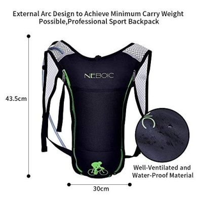 Neboic-2Pack-Hydration-Backpack-Pack-with-2L-Hydration-Bladder-Lightweight-Water-Backpack-Keeps-Water-Cool-up-to-4-Hours-with-Big-Storage-for-Kids-Women-Men-Hiking-Cycling-Camping-Music-Festival