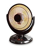 Mainstays Infrared Oscillating Dish Heater, Black Finish, JHS-800H