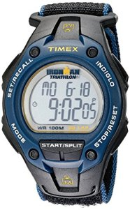 Timex Men's T5K413 Ironman Classic 30 Oversized Black/Blue/Yellow Fast Wrap Watch