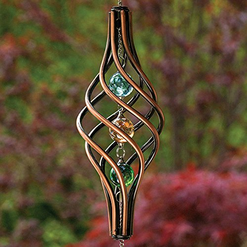 Bits-and-Pieces-Copper-Toned-Wind-Ornament-Unique-Outdoor-Lawn-and-Garden-Dcor-Weather-Resistant-Metal