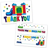 Bounce House Kids Fill In Thank You Cards - Birthday Thanks (20 Count with Envelopes)