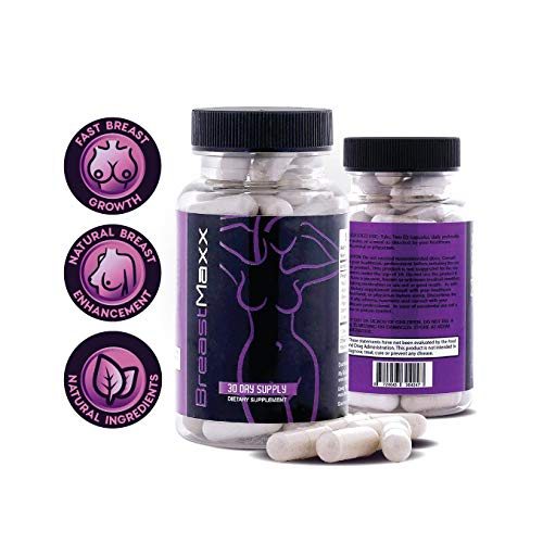 Breast Maxx Breast Enlargement Pills for Men and Women - Breast Enhancement Pills - Female Enhancement Pills - Growth Hormones for Men - Breast Growth Pills - Natural Breast Enhancement Pills