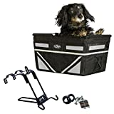 Pet-Pilot MAX dog bicycle basket carrier | 2019 Model with 9 Color Options for your bike (SILVER)