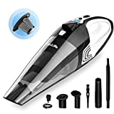 VacLife Handheld Vacuum, Hand Vacuum Cordless with High Power, Mini Vacuum Cleaner Handheld Powered by Li-ion Battery Rechargeable Quick Charge, for Home and Car Cleaning, Wet & Dry - Black & White