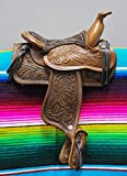 "Product review for 5"" Brown Western Leather Saddle Mini Decoration Saddle"