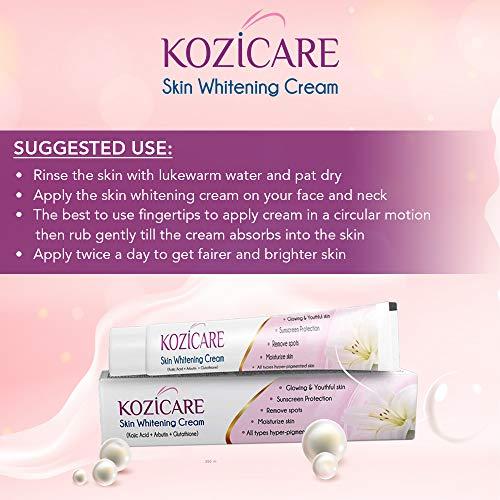 51uhvrEEnIL - Kozicare KoJic Acid, Arbutin,Glutathione Skin Whitening & Lightening Cream,15g