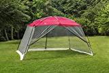 ALPHA CAMP Screen House Tent Easy Setup Canopy - 13'X9', Red