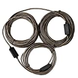 RELPER 80 Foot Premium Active USB 2.0 Extension Cable with Built-in Signal Booster Chipset Male to Female Connect Pc with Far Away Webcam (80ft with Booster Chipset)