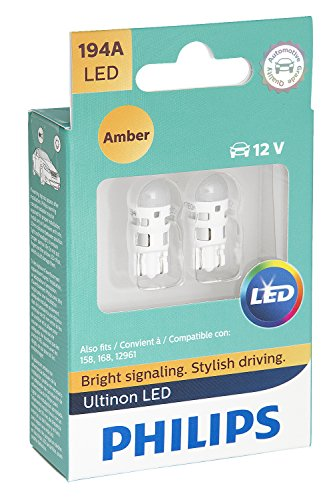 Philips 194 Ultinon LED Bulb (Amber), 2 Pack