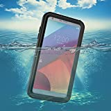 LG G6 Waterproof Case,Underwater Cover Full Body Protective Shockproof Snowproof Dirtproof IP68 Certified Waterproof Case with Kickstand for LG G6-2017 Newest Released-Black