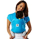 Baby K'tan Active Baby Wrap Carrier, Infant and Child Sling - Ocean Blue S (Women's Dress Size 6-8 / Men's Jacket Size 37-38) Newborn up to 35 lbs. Best for Babywearing