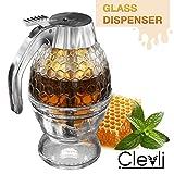 Honey dispenser   Glass No Drip   Syrup Sugar Container   Honey Pot