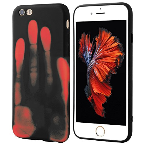 Seternaly Thermal iPhone Case Cool Covers for iPhone 6/iPhone 6S [4.7''] Black into Orange
