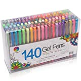 Smart Color Art 140 Colors Gel Pens Set Gel Pen for Adult Coloring Books Drawing Painting Writing