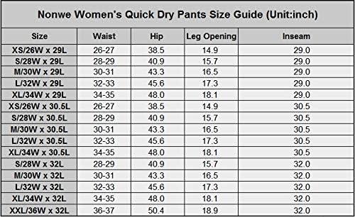 Nonwe Women's Outdoor Water-Resistant Quick Drying Lightweight Cargo Pants 6