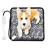 Beau Kinetic Warmer Pet Heat Mat Safety Outdoor and Indoor Pet Heating Pad 20W Adjustable Temperature Waterproof Cat Dog Pet Bed Soft and Power Saving Electric Heating Blanket 17.72 x 17.72 inches