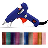 KATEVO Professional Mini Hot Melt Glue Gun with 50pcs Glitter Adhesive Glue Sticks Ideal for Homes,Offices,School,Party Designers,DIY Air Craft Projects & Sealing and Quick Repairs(20-watt, Blue)