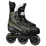 Tour Hockey Code 9 Jr Inline Hockey Skate, Black/White/Red, 04
