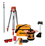Johnson Level & Tool 99-006K Self Leveling Rotary Laser System Kit, Soft Shell Carrying Case, Alkaline Battery, Tripod, Mounting Bracket, 13ft Grade Rod, Magnetic Target, Protective Glasses