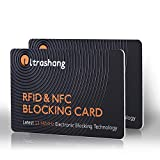 2Pcs RFID Blocking Card, Fuss-free Protection Entire Wallet & Purse Shield, Contactless NFC Bank Debit Credit Card Protector Blocker(Ver. 2.0)