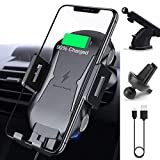 Wireless Car Charger Mount, Auto Clamping 10W/7.5W Qi Fast Charging Car Phone Holder Air Vent Windshield Dashboard Compatible iPhone Xs/Xs Max/XR/X/ 8/8 Plus, Samsung Galaxy S10/S9/S8/S8+ (Black 1)